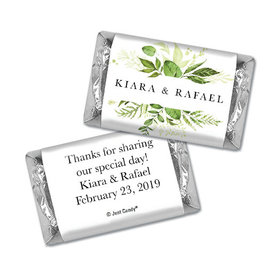 Personalized Wedding Botanical Greenery Hershey's Miniatures Wrappers