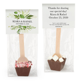 Personalized Wedding Whimsical Greenery Hot Chocolate Spoon