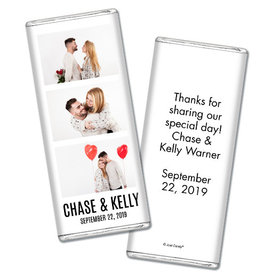 Personalized Wedding Sweet Photobooth Chocolate Bar