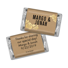 Personalized Wedding Golden Roses Hershey's Miniatures