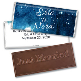 Personalized Wedding Favor Embossed Chocolate Bar Magical Evening