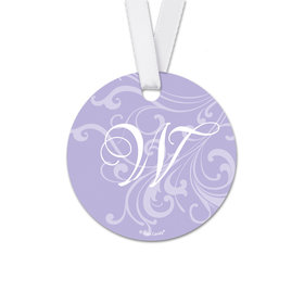 Personalized Wedding Filigree Round Favor Gift Tags (20 Pack)
