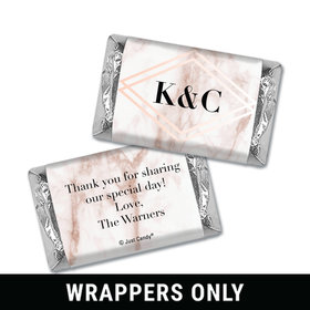Personalized Wedding Geometric Marble Hershey's Miniatures Wrappers