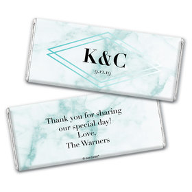 Personalized Wedding Geometric Marble Chocolate Bar