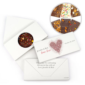 Personalized True Love Sparkles Wedding Gourmet Infused Chocolate Bars (3.5oz)