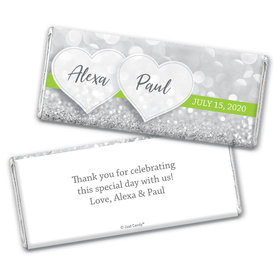 Personalized Wedding Glitz & Glam Chocolate Bar Wrappers Only