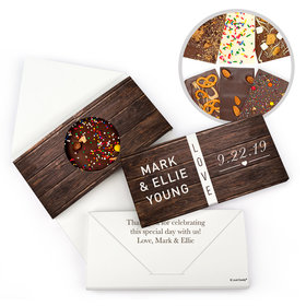 Personalized Rustic Love Wedding Gourmet Infused Chocolate Bars (3.5oz)