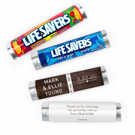 Personalized Wedding Rustic Love Lifesavers Rolls (20 Rolls)