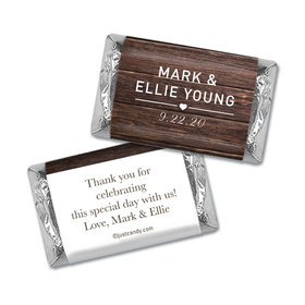 Personalized Wedding Rustic Love Hershey's Miniatures Wrappers Only