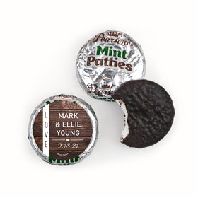 Personalized Wedding Rustic Love Pearson's Mint Patties