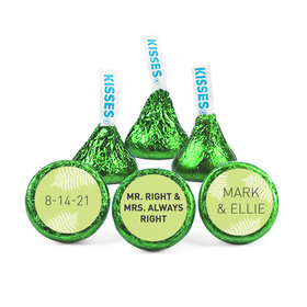 Personalized Wedding Reception Mr. & Mrs. Right Hershey's Kisses (50 pack)