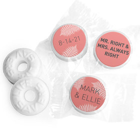 Personalized Wedding Favor Mr. And Mrs. Right LifeSavers Mints