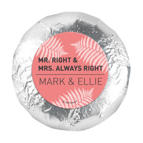 "Personalized Wedding Mr. and Mrs. Right 1.25"" Stickers (48 Stickers)"