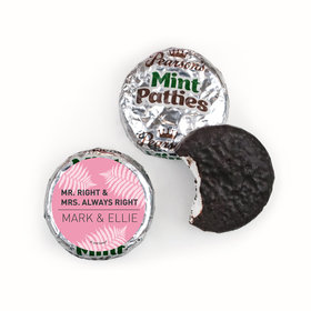 Personalized Wedding Mr. and Mrs. Right Pearson's Mint Patties
