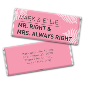 Wedding Favor Personalized Chocolate Bar Wrappers Mr. And Mrs. Right