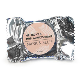 Personalized Wedding Mr. and Mrs. Right York Peppermint Patties