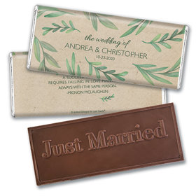 Personalized Wedding Favor Embossed Chocolate Bar One With Nature