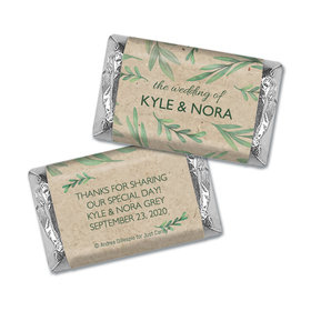 Personalized Wedding One With Nature Hershey's Miniatures Wrappers