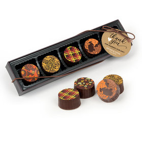 Personalized Wedding Thank You Heart Gourmet Belgian Chocolate Truffle Gift Box (5 Truffles)