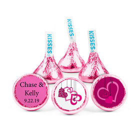Personalized Wedding Reception Hanging Hearts Hershey's Kisses (50 pack)