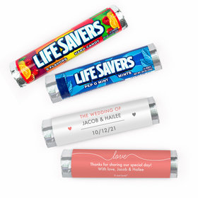 Personalized Everlasting Love Wedding Lifesavers Rolls (20 Rolls)