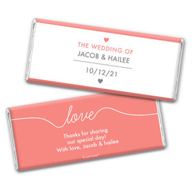 Personalized Everlasting Love Wedding Chocolate Bar Wrappers Only