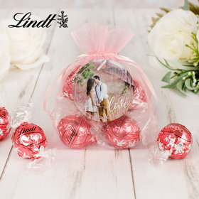 Personalized Bridal Lindt Truffle Organza Bag- Photo