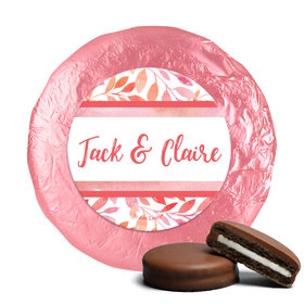Personalized Wedding Lovely Leaves Chocolate Covered Oreos (24 Pack)