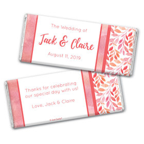 Personalized Lovely Leaves Wedding Chocolate Bars