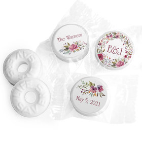 Personalized Flowering Affection LifeSavers Mints