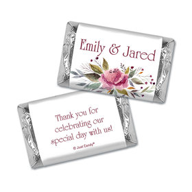 Personalized Flowering Affection Wedding Hershey's Miniatures