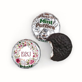 Personalized Wedding Flowering Affection Pearson's Mint Patties