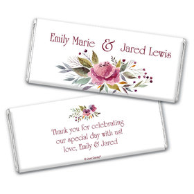 Personalized Flowering Affection Wedding Chocolate Bar Wrappers