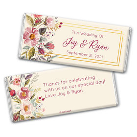 Personalized Blooming Bouquet Wedding Chocolate Bar Wrappers