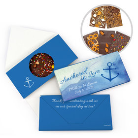 Personalized Anchored in Love Wedding Gourmet Infused Belgian Chocolate Bars (3.5oz)