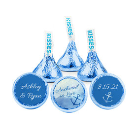 Personalized Wedding Anchored in Love Hershey's Kisses (50 pack)