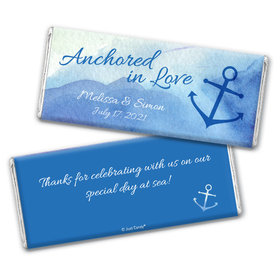 Personalized Anchored in Love Wedding Chocolate Bar Wrappers