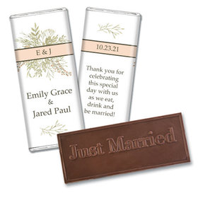 Personalized Wildflower Bouquet Wedding Embossed Chocolate Bars