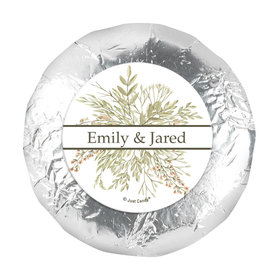 "Personalized Wedding Wildflower Bouquet 1.25"" Stickers (48 Stickers)"