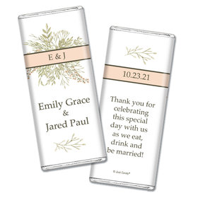 Personalized Wildflower Bouquet Wedding Chocolate Bars