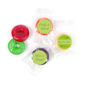 Personalized Wedding Wishes LifeSavers 5 Flavor Hard Candy
