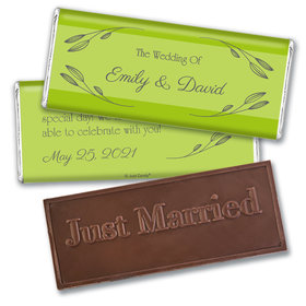Personalized Wedding Wishes Embossed Chocolate Bars