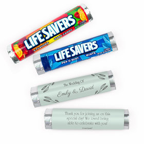 Personalized Wishes Wedding Lifesavers Rolls (20 Rolls)