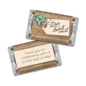 Personalized Sweet Burlap Wedding Hershey's Miniatures