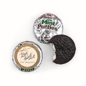 Personalized Wedding Sweet Burlap Pearson's Mint Patties