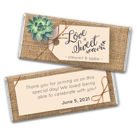 Personalized Sweet Burlap Wedding Chocolate Bars