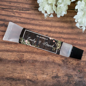 Hand Sanitizer Tube Personalized Wedding Rustic Romance 0.5 fl. oz.