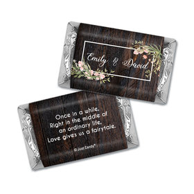 Personalized Rustic Romance Wedding Hershey's Miniatures