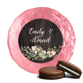 Personalized Wedding Rustic Romance Chocolate Covered Oreos (24 Pack)