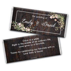 Personalized Rustic Romance Wedding Chocolate Bars